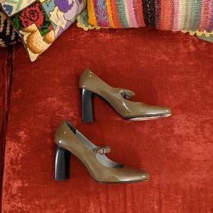 Via Spiga Patent Leather Mary Jane Heels